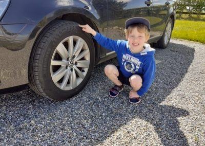 Maths Trail: Tyres are cylinders that help the car move