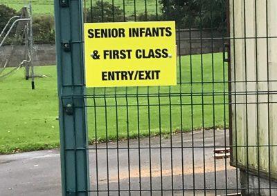 Entry/Exit - Senior Infants-1st class