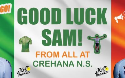 Good Luck Sam Bennett From all at Crehana N.S.