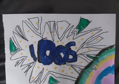 Bubble Writing Art
